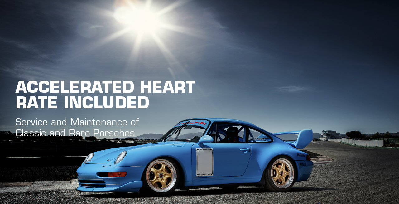 Accelerated Heart Rate Included - Service and Maintenance of Classic and Rare Porsches